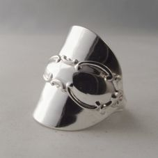 Stunningly Unusual Handmade Antique Sterling Silver Spoon Ring London 1916